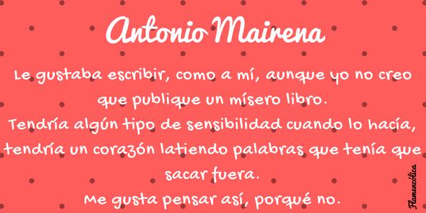 Flamencolica Antonio Mairena